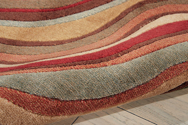 """Accessory Somerset Multicolor 2'3"""" x 8'Runner, Red/Beige, large"""