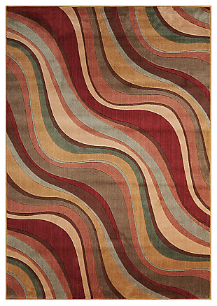 """Accessory Somerset Multicolor 3'6"""" x 5'6"""" Area Rug, Red/Beige, large"""