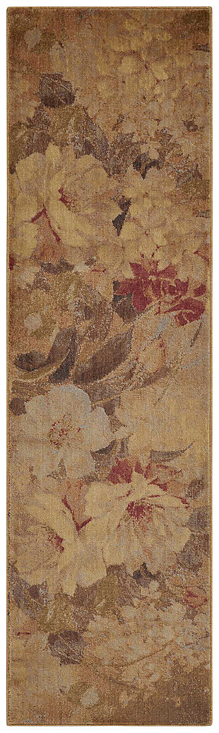 "Accessory Somerset Multicolor 2'3"" x 8'Runner, Red/Beige, large"