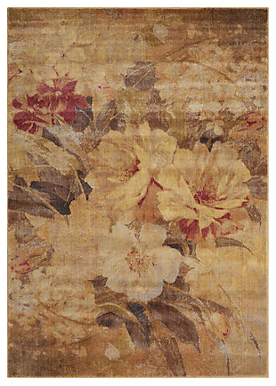 "Accessory Somerset Multicolor 3'6"" x 5'6"" Area Rug, Red/Beige, large"