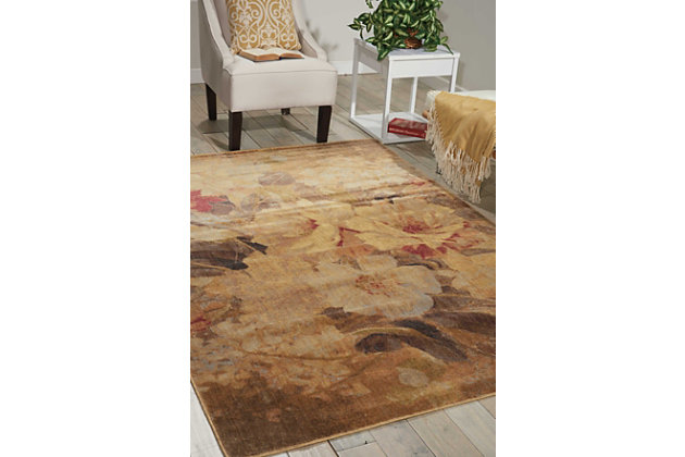 "Accessory Somerset Multicolor 5'3"" x 7'5"" Area Rug, Red/Beige, large"