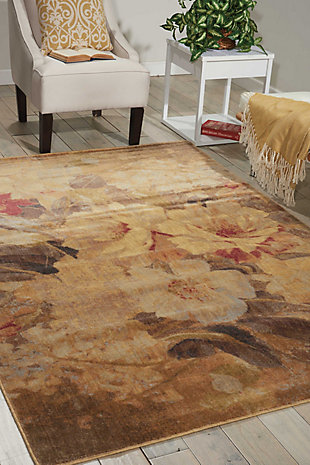 "Accessory Somerset Multicolor 5'3"" x 7'5"" Area Rug, Red/Beige, rollover"