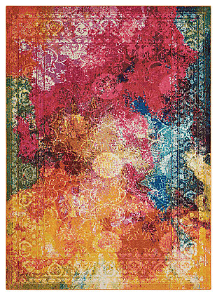 "Accessory Celestial SeaGlass 5'3"" x 7'3"" Area Rug, Sunburst, large"
