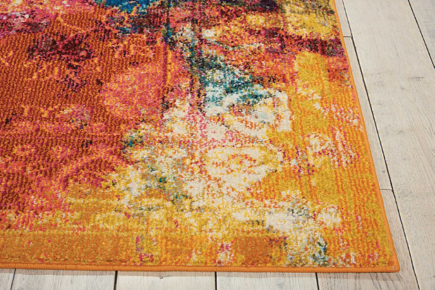 "Accessory Celestial SeaGlass 7'10"" x 10'6"" Area Rug, Sunburst, large"