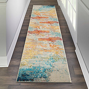 "Accessory Celestial Sealife 3'11"" x 5'11"" Area Rug, Pale Blue, rollover"
