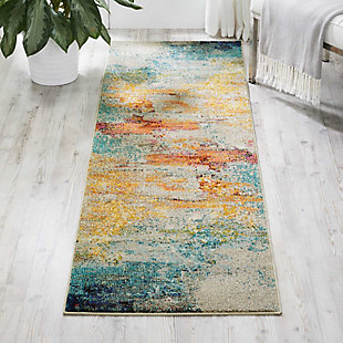 Accessory Celestial Sealife 2'x 6'Runner, Pale Blue, rollover