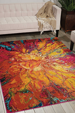 "Accessory Celestial Cayenne 5'3"" x 7'3"" Area Rug, Sunburst, large"