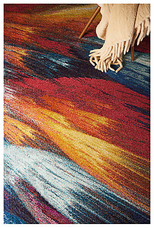 "Accessory Celestial Burst 5'3"" x 7'3"" Area Rug, Sunburst, large"
