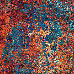 "Accessory Celestial Atlantic 5'3"" x 7'3"" Area Rug, Splatter, large"