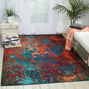 "Accessory Celestial Atlantic 5'3"" x 7'3"" Area Rug, Splatter, rollover"