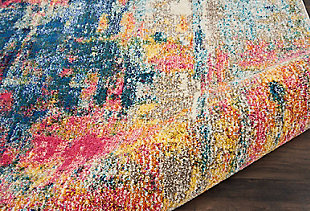 "Accessory Celestial Blue/Yellow 5'3"" x 7'3"" Area Rug, Splatter, large"