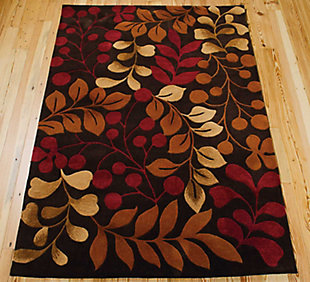 "Accessory Contour Chocolate 5' x 7'6"" Area Rug, Chocolate, rollover"