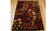 "Accessory Contour Chocolate 5'x 7'6"" Area Rug, Chocolate, rollover"