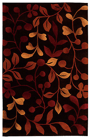 "Accessory Contour Chocolate 5'x 7'6"" Area Rug, Chocolate, large"