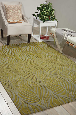"Accessory Contour Green 5' x 7'6"" Area Rug, Avocado, rollover"
