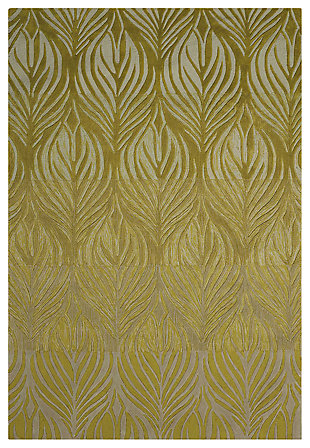 "Accessory Contour Green 5' x 7'6"" Area Rug, Avocado, large"