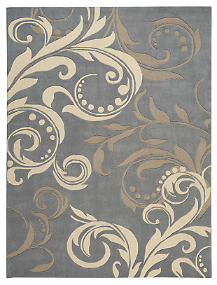 "Accessory Contour Silver 5' x 7'6"" Area Rug, Blue/Silver, large"