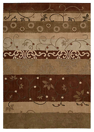"Accessory Contour Multicolor 7'3"" x 9'3"" Area Rug, Mocha, large"