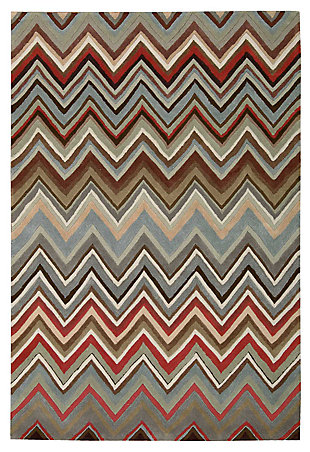 "Accessory Contour Multicolor 3'6"" x 5'6"" Area Rug, Mocha, large"