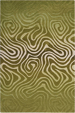 "Accessory Contour Avocado 5' x 7'6"" Area Rug, Avocado, rollover"