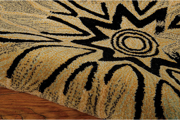 "Accessory Contour Multicolor 5' x 7'6"" Area Rug, Beige, large"