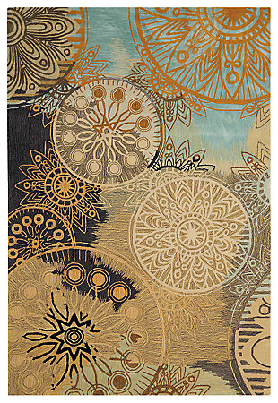 "Accessory Contour Multicolor 5'x 7'6"" Area Rug, Beige, large"