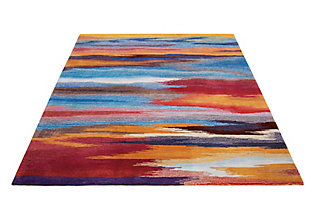 """Accessory Contour Sunset 5' x 7'6"""" Area Rug, Sunburst, large"""