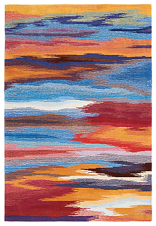 "Accessory Contour Sunset 5' x 7'6"" Area Rug, Sunburst, large"
