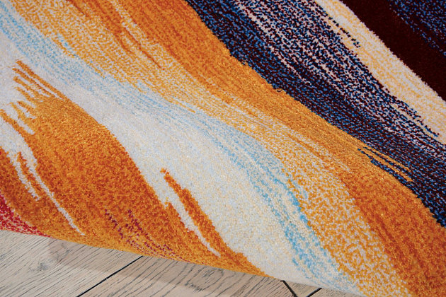 "Accessory Contour Sunset 7'3"" x 9'3"" Area Rug, Sunburst, large"