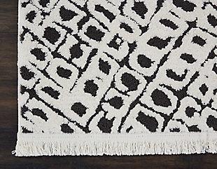 """Accessory Kamala White/black 5'3"""" x 7'3"""" Area Rug, Black/Ivory, large"""
