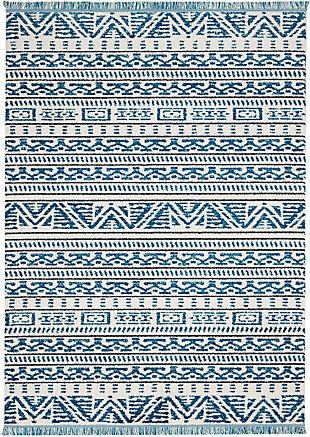 "Accessory Kamala Ivory/Blue 5'3"" x 7'3"" Area Rug, Teal/Ivory, rollover"