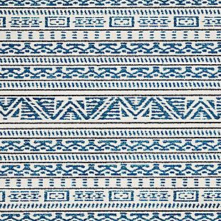 "Accessory Kamala Ivory/Blue 5'3"" x 7'3"" Area Rug, Teal/Ivory, large"