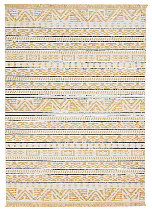 "Accessory kamala Yellow 2'2"" x 7'6"" Runner, Sun, large"