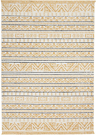 "Accessory kamala Yellow 2'2"" x 7'6"" Runner, Sun, rollover"
