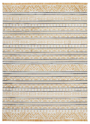 "Accessory Kamala Yellow 7'10"" x 10'6"" Area Rug, Sun, large"
