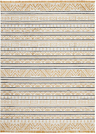 "Accessory Kamala Yellow 7'10"" x 10'6"" Area Rug, Sun, rollover"