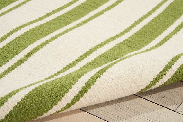 "Accessory Rio Vista Iv/Green 5' x 7'6"" Area Rug, Avocado, large"