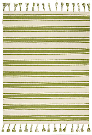 "Accessory Rio Vista Iv/Green 5' x 7'6"" Area Rug, Avocado, rollover"