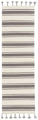 """Accessory Rio Vista Iv/grey 2'3"""" X 8'runner, Charcoal/Ivory, large"""
