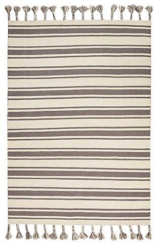 "Accessory Rio Vista Iv/Grey 5' x 7'6"" Area Rug, Charcoal/Ivory, large"
