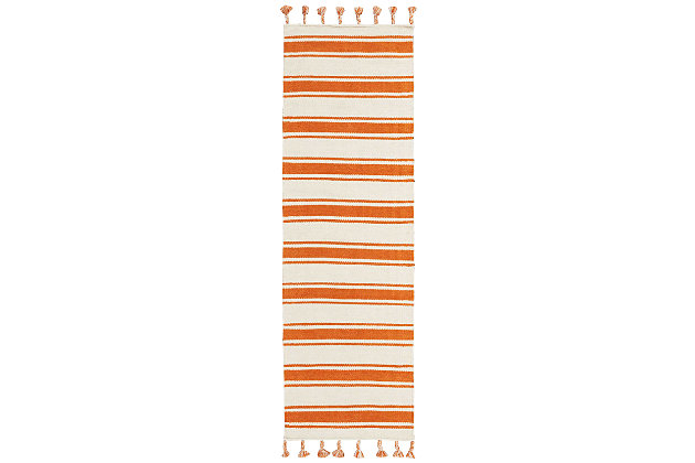 "Accessory Rio Vista Iv/Orange 2'3"" x 8'Runner, Sun, large"
