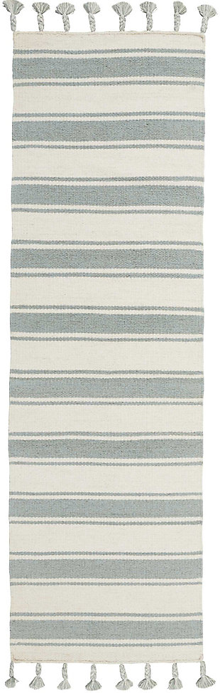 "Accessory Rio Vista Ivspa 2'3"" x 8'Runner, Pale Blue/White, rollover"