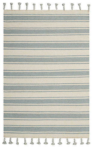 "Accessory Rio Vista Ivspa 4' x 6'6"" Area Rug, Pale Blue/White, large"