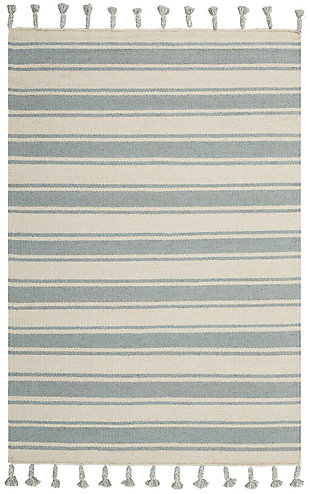 "Accessory Rio Vista Ivspa 4' x 6'6"" Area Rug, Pale Blue/White, rollover"