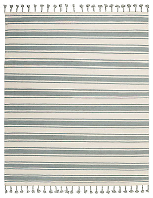 "Accessory Rio Vista Ivspa 8' x 10'6"" Area Rug, Pale Blue/White, large"