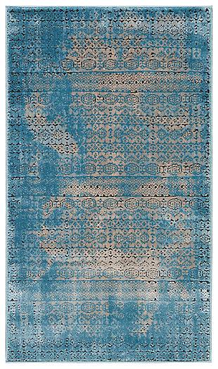 """Accessory Karma Blue 2'2"""" x 3'9"""" Area Rug, Blue Ash, large"""