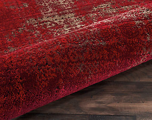 "Accessory Karma Red 2'2"" x 3'9"" Area Rug, Sangria, large"