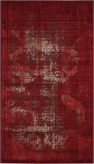 "Accessory Karma Red 2'2"" x 3'9"" Area Rug, Sangria, rollover"