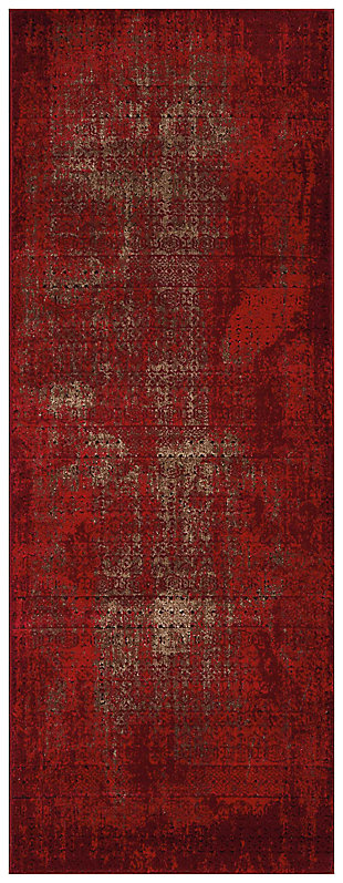 "Accessory Karma Red 2'2"" x 7'6"" Runner, Sangria, large"