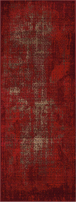 "Accessory Karma Red 2'2"" x 7'6"" Runner, Sangria, rollover"